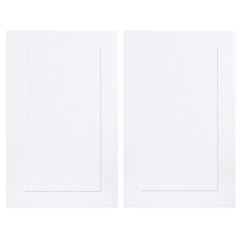 IT Kitchens Stonefield White Classic Style Tall Larder Door (W)600mm, Set of 2
