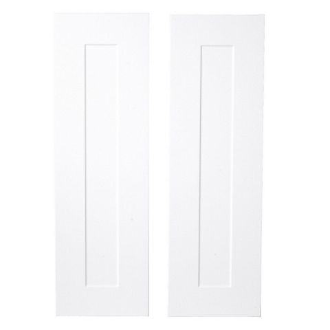 IT Kitchens Stonefield White Classic Style Tall Larder Door (W)300mm, Set of 2