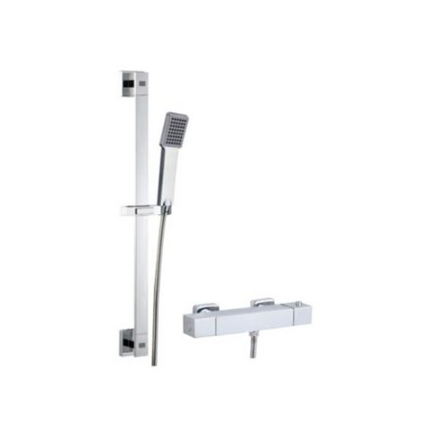 Cooke & Lewis Meribel Rear Fed Chrome Bar Mixer Shower
