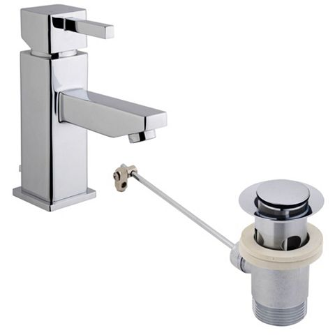 Cooke & Lewis Meribel Chrome Basin Mixer Tap