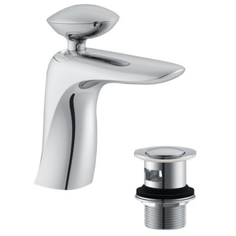 Cooke & Lewis Pebble 1 Lever Basin Mixer Tap