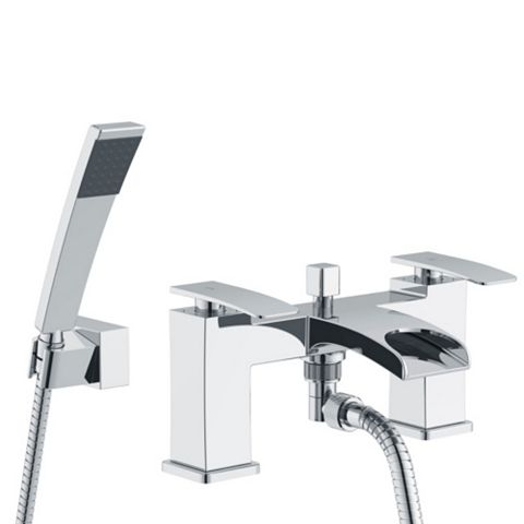 Cooke & Lewis Waterfall Chrome Bath Shower Mixer Tap