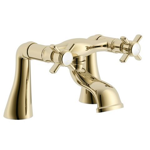 Cooke & Lewis Classic Gold Effect Bath Mixer Tap