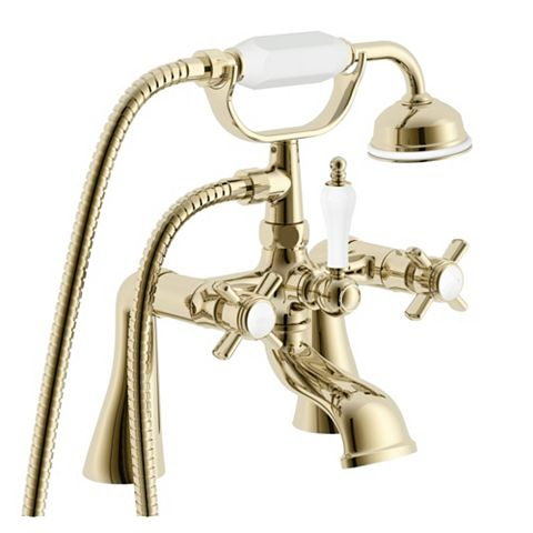Cooke & Lewis Classic Gold Effect Bath Shower Mixer Tap