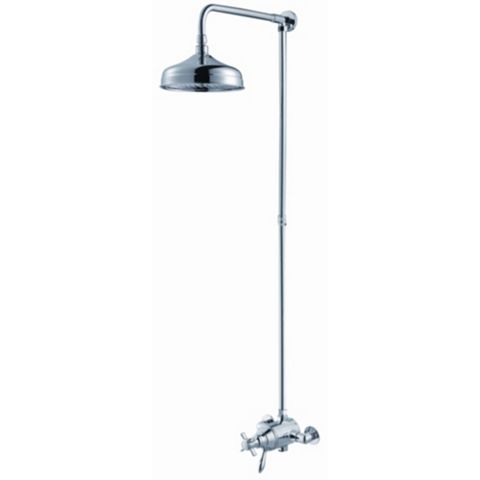 Cooke & Lewis Timeless Chrome Concentric Mixer Shower