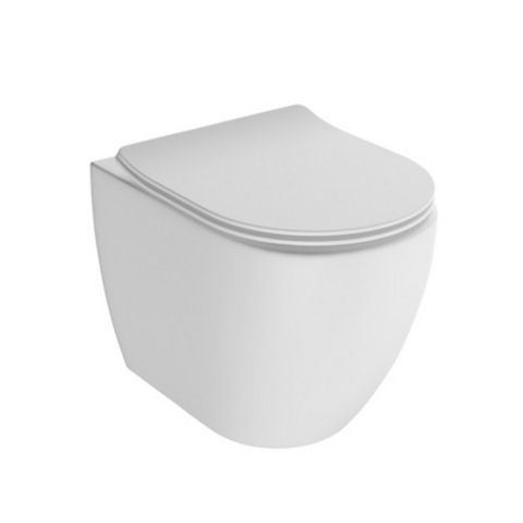 Cooke & Lewis Helena Modern Back to Wall Toilet with Soft Close Seat