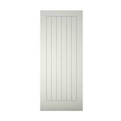 Cottage Panelled Primed Front Door, (H)1981mm (W)838mm