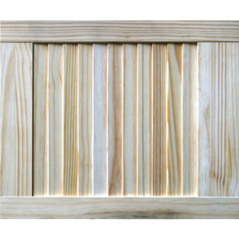 Closed Louvre Pine Internal Door, (H)457mm (W)381mm