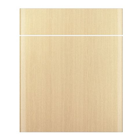 IT Kitchens Sandford Textured Oak Effect Slab Drawer Line Door & Drawer Front (W)600mm, Set of 1 Door & 1 Drawer Pack
