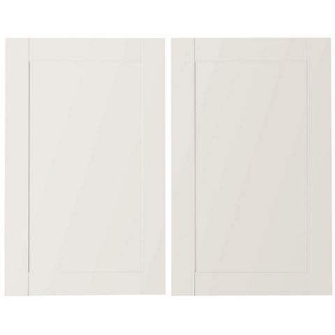 IT Kitchens Westleigh Ivory Style Shaker Larder Door (W)600mm, Set of 2
