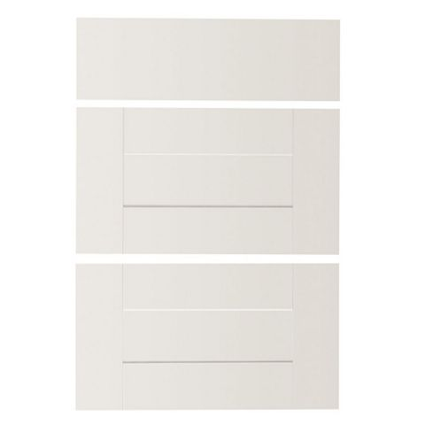IT Kitchens Westleigh Ivory Style Shaker Drawer Front (W)600mm, Set of 3