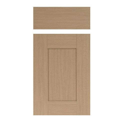 IT Kitchens Westleigh Textured Oak Effect Shaker Drawer Line Door & Drawer Front (W)400mm, Set of 1 Door & 1 Drawer Pack
