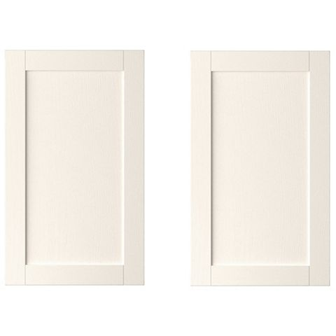 IT Kitchens Brookfield Textured Ivory Style Shaker Larder Door (W)600mm, Set of 2