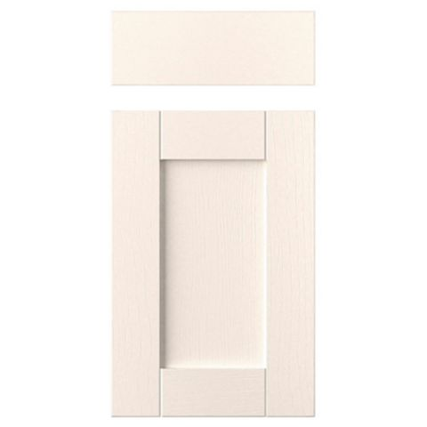 IT Kitchens Brookfield Textured Ivory Style Shaker Drawerline Door & Drawer Front (W)400mm, Set of 1 Door & 1 Drawer Pack