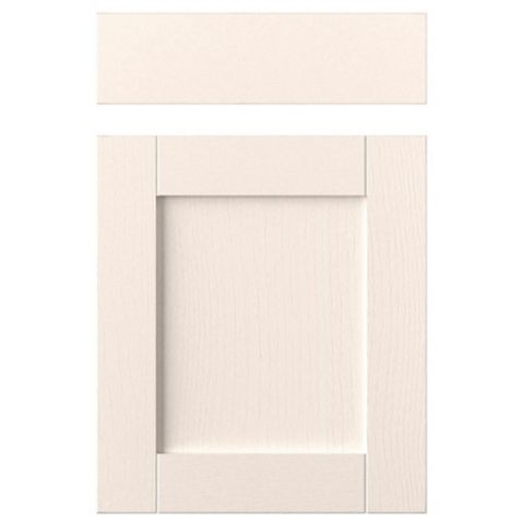 IT Kitchens Brookfield Textured Ivory Style Shaker Drawerline Door & Drawer Front (W)500mm, Set of 1 Door & 1 Drawer Pack
