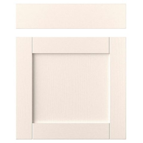 IT Kitchens Brookfield Textured Ivory Style Shaker Drawerline Door & Drawer Front (W)600mm, Set of 1 Door & 1 Drawer Pack