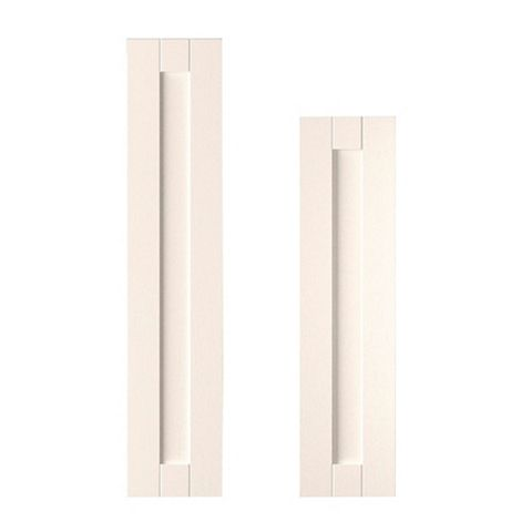IT Kitchens Brookfield Textured Ivory Style Shaker Tall Larder Door (W)300mm, Set of 2