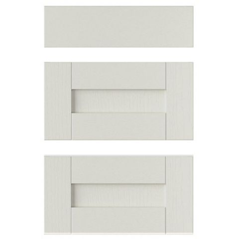 IT Kitchens Brookfield Textured Mussel Style Shaker Drawer Front (W)500mm, Set of 3