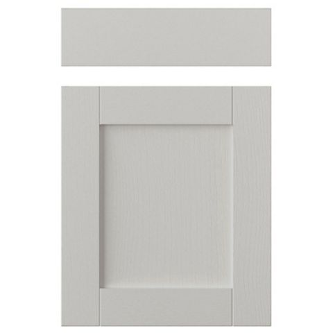 IT Kitchens Brookfield Textured Mussel Style Shaker Drawerline Door & Drawer Front (W)500mm, Set of 1 Door & 1 Drawer Pack
