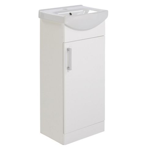 Ardenno Gloss White Cloakroom Vanity Unit & Basin Set