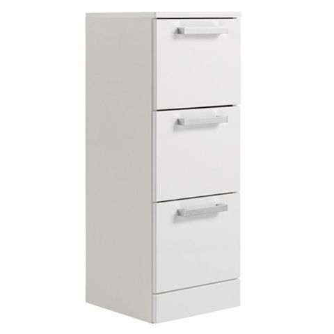 Ardenno Gloss White Three Drawer Unit
