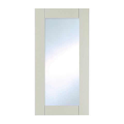 IT Kitchens Brookfield Textured Mussel Style Shaker Tall Glazed Door (W)500mm