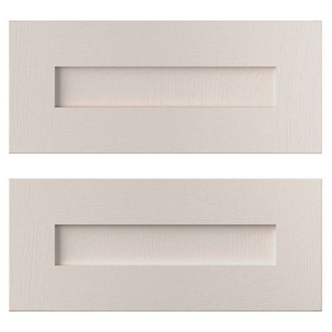 Cooke & Lewis Carisbrooke Cashmere Tower Drawer Front (W)600mm, Set of 2