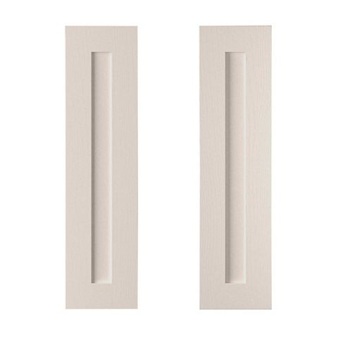 Cooke & Lewis Carisbrooke Cashmere Tall Corner Wall Door (W)625mm, Set of 2