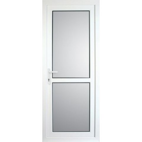 Mid Bar White PVCu Fully Glazed Back Door & Frame Lh, (H)2055mm (W)920mm