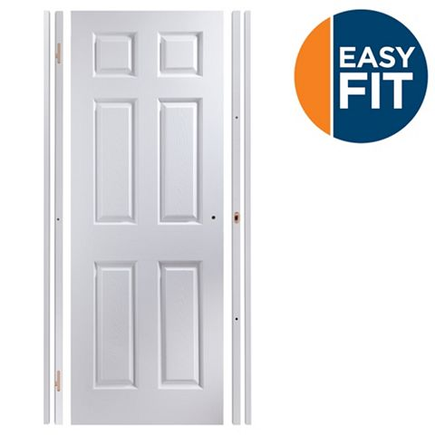 Easy Fit 6 Panel Pre-Painted Internal Door Kit, For Opening Sizes (W)683-695mm (H)1988-1996mm (D)35mm