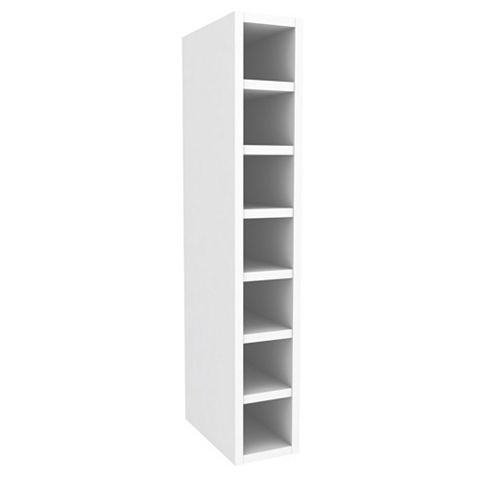 Cooke & Lewis White Wine Rack Tall Wall Cabinet (W)150mm