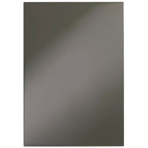 Cooke & Lewis Raffello High Gloss Anthracite Slab Standard Door (W)500mm