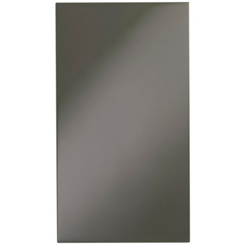 Cooke & Lewis Raffello High Gloss Anthracite Standard Door (W)400mm