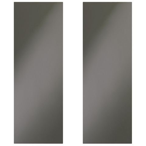 Cooke & Lewis Raffello High Gloss Anthracite Corner Wall Door (W)625mm, Set of 2