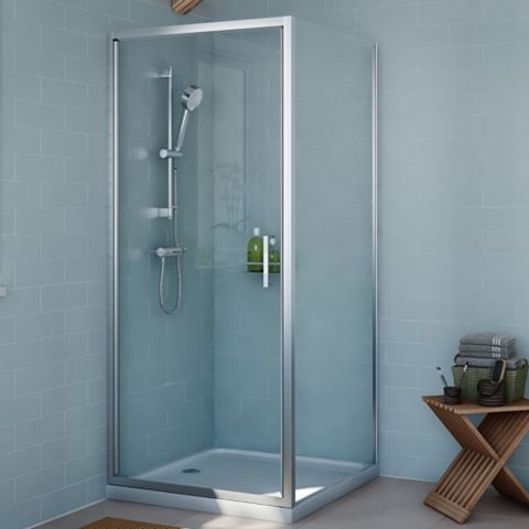 Cooke & Lewis Exuberance Square Shower Enclosure with Hinged Door (W)900mm (D)900mm