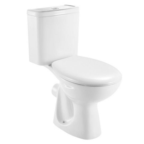 Plumbsure Truro Contemporary Close-Coupled Toilet with Standard Close Seat