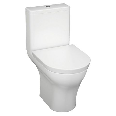 Cooke & Lewis Angelica Modern Close-Coupled Toilet with Soft Close Seat
