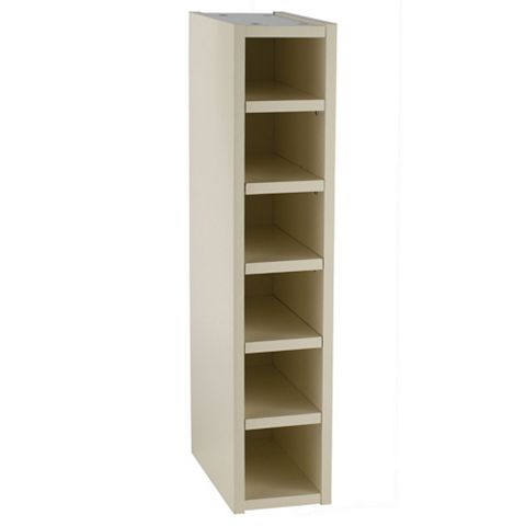 Cooke & Lewis Cream Wine Rack Tall Wall Cabinet (W)150mm