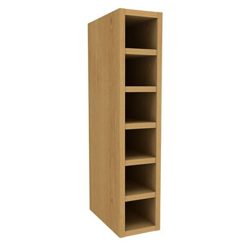 Cooke & Lewis Cherry Effect Wine Rack Wall Cabinet (W)150mm