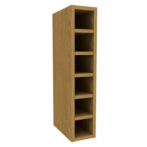 Cooke & Lewis Oak Effect Wine Rack Wall Cabinet (W)150mm