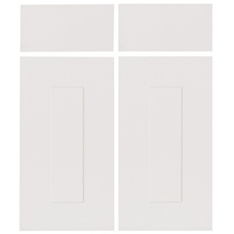 IT Kitchens Stonefield Stone Classic Style Corner Base Drawer Line Door (W)925mm, Set of 2