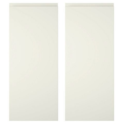 Cooke & Lewis Appleby High Gloss Cream Corner Wall Door (W)625mm, Set of 2