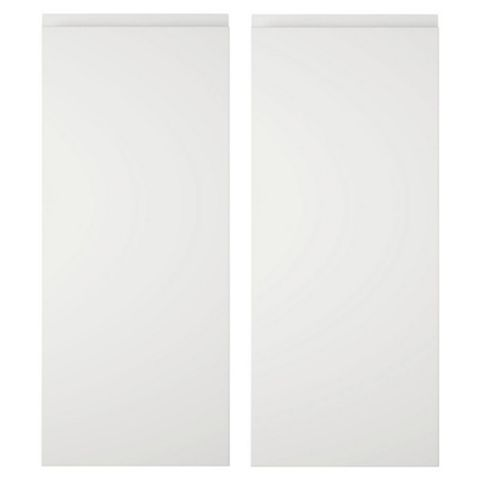 Cooke & Lewis Appleby High Gloss White Corner Wall Door (W)625mm, Set of 2