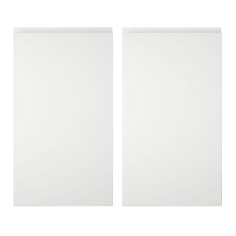 Cooke & Lewis Appleby High Gloss White Corner Base (W)925mm, Set of 2