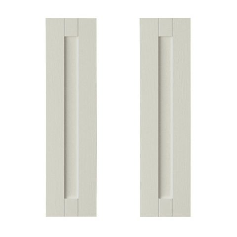 IT Kitchens Brookfield Textured Mussel Style Shaker Tall Corner Wall Door (W)625mm, Set of 2