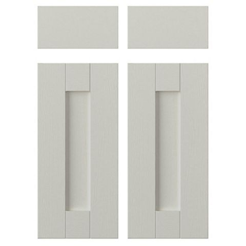 IT Kitchens Brookfield Textured Mussel Style Shaker Corner Base Drawerline Door (W)925mm, Set of 2