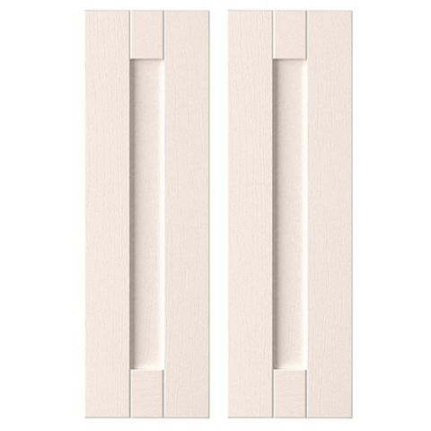 IT Kitchens Brookfield Textured Ivory Style Shaker Corner Wall Door (W)625mm, Set of 2