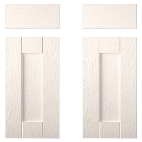 IT Kitchens Brookfield Textured Ivory Style Shaker Corner Base Drawer Line Door (W)925mm, Set of 2