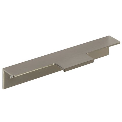 Brushed Nickel Straight Cupboard Handle (L)147mm, Pack of 2