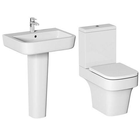 Cooke & Lewis Caldaro Full Pedestal Basin & Toilet Pack